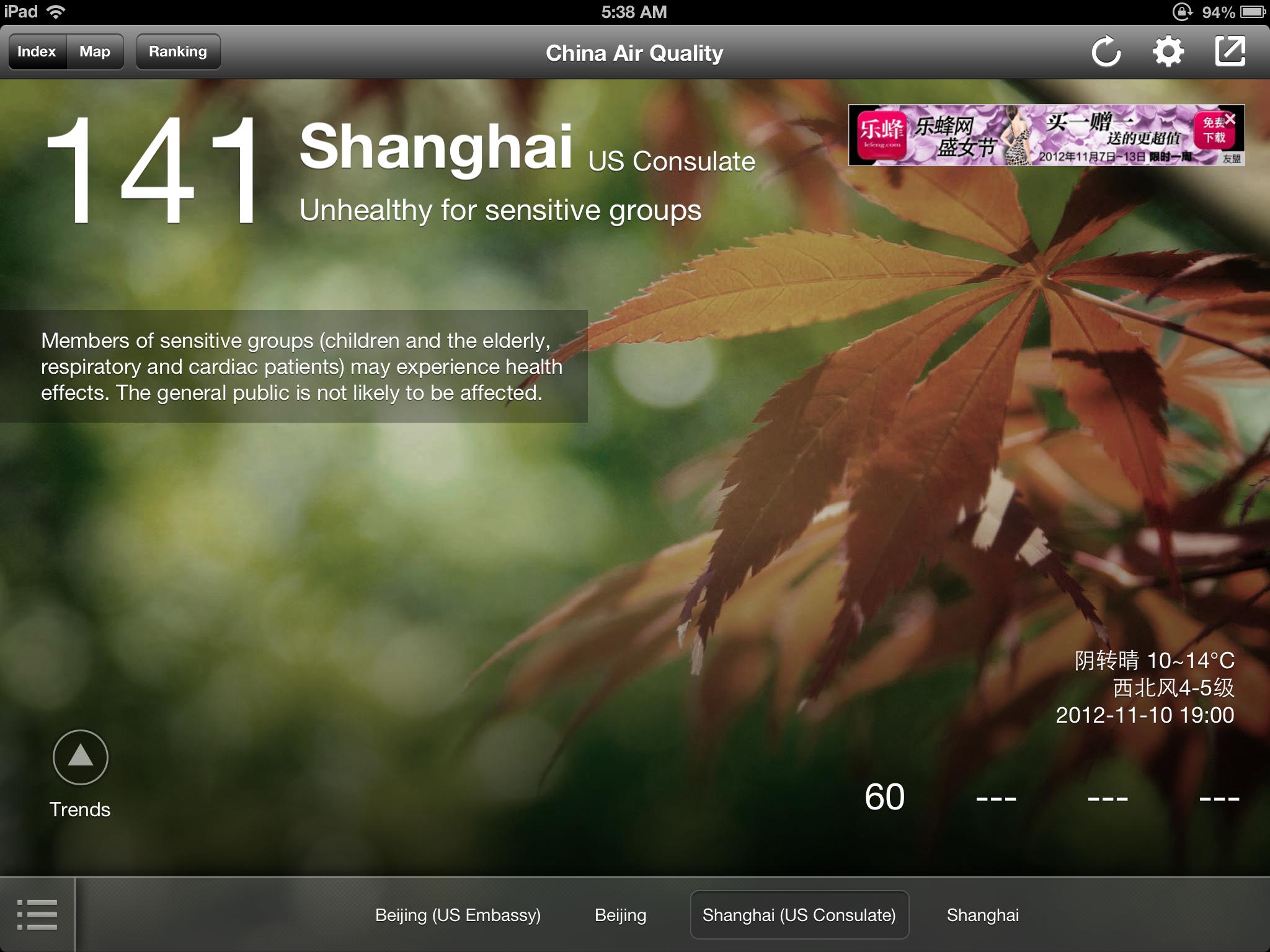 China Air Quality Shanghai - US Consulate