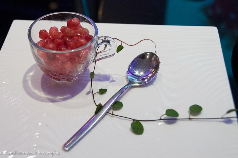 Pomegranate salad at DaDong Restaurant in Beijing.