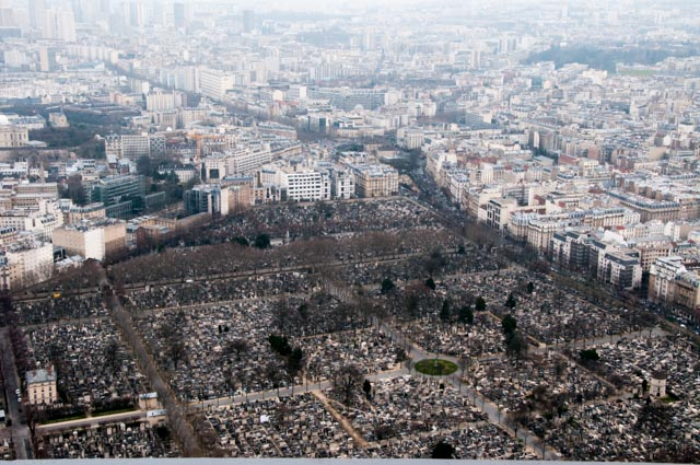 Montparnasse Cemetery viewed from Montparnasse Tower. Copyright 2013 Daniel Ginsberg